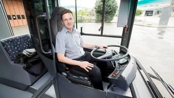Chefredaktor und Chauffeur Christian Dorer ist bereit für die Tour durch den Aargau. Emanuel Freudiger