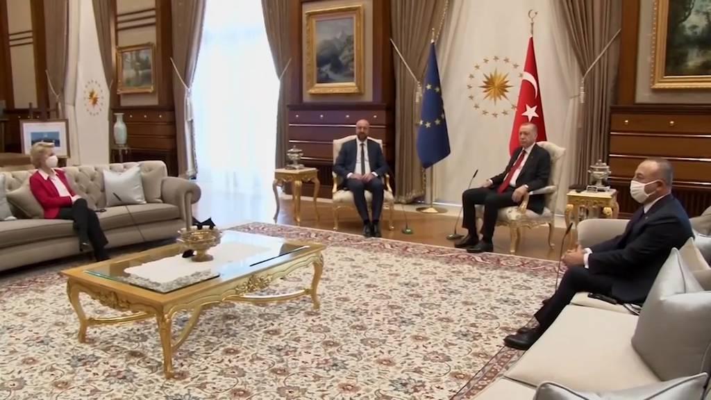 Macho-Alarm in Ankara: EU-Chefin von der Leyen wird aufs Sofa abgeschoben