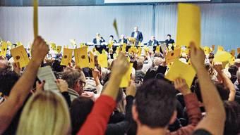 Gemeindeversammlung in Spreitenbach vom vergangenen Januar. Wegen des Veranstaltungsverbots sind die nächsten Versammlungen gefährdet.