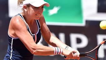 Timea Bacsinszky beim Return gegen Karolina Pliskova.