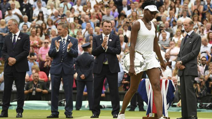Enttäuscht: Venus Williams verliert den Final gegen die Spanierin Garbine Muguruza.