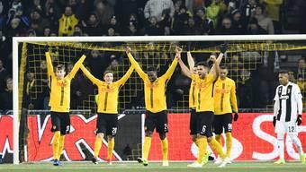 Die Berner Young Boys nach ihrem Sieg in der Champions League gegen Juventus Turin.