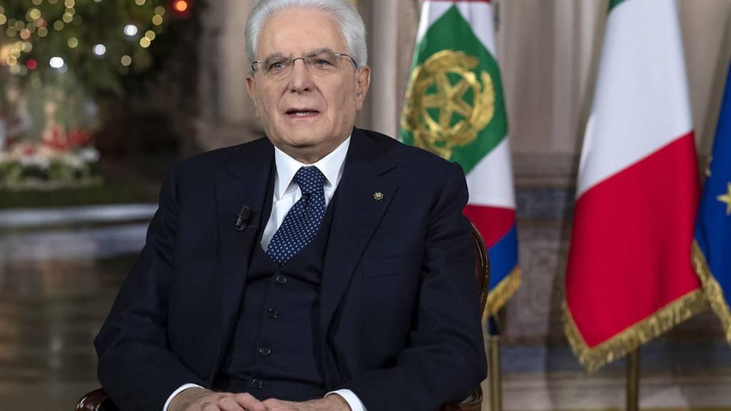 Präsident Mattarella: «Auch ich gehe nicht mehr zum Friseur»