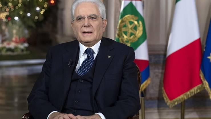 Italiens Präsident Sergio Mattarella sorgte bei einem TV-Auftritt für ungewollte Komik. (Archivbild)