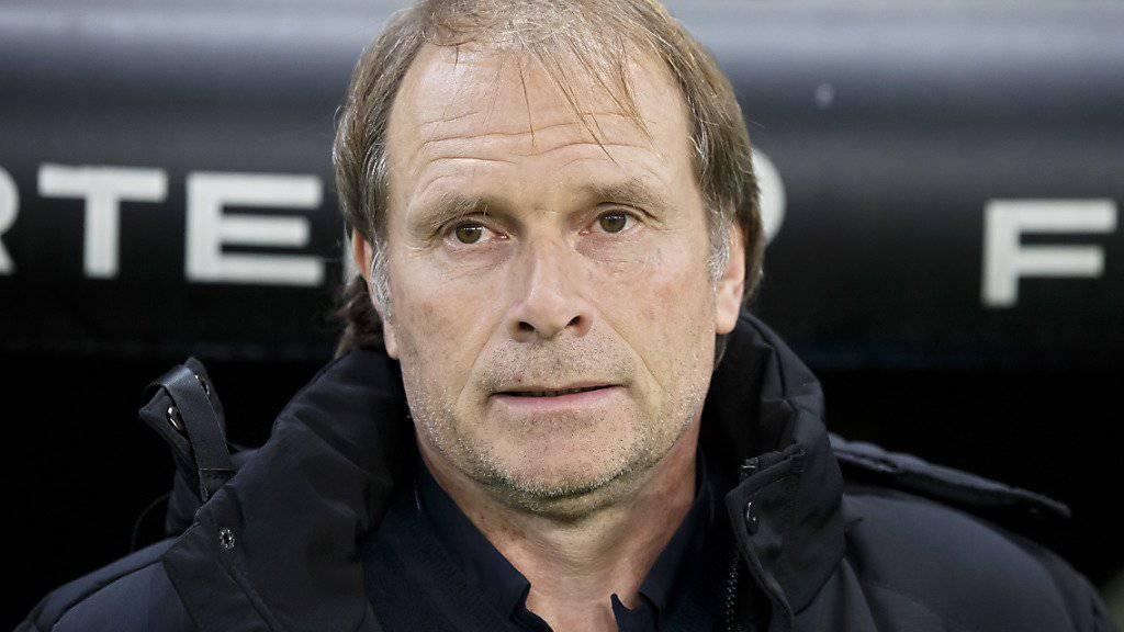 Servettes Trainer Alain Geiger sah in Chiasso nichts Erfreuliches von seinen Servettiens