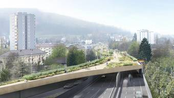 So könnte es dereinst in der Breite aussehen: Eindeckelung der Aubrugg in Zürich-Schwamendingen.