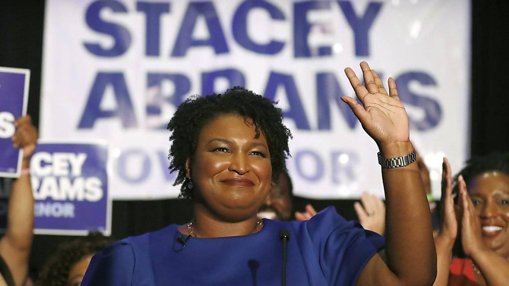 Die 45-jährige Stacey Abrams wird auf Trumps Rede zur Nation antworten. Sie  ist die erste Afroamerikanerin, die diese Aufgabe übernimmt. (Archivbild)