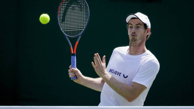 Andy Murray beim Training in Wimbledon