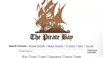 Feindbild der Musik- und Filmindustrie: The Pirate Bay, eine der beliebtesten Plattformen für den Download urheberrechtlich geschützter Werke. (Screenshot: ThePirateBay.org)