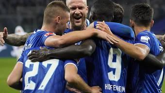 Die Hoffenheimer jubeln gegen Paderborn schon nach 72 Sekunden