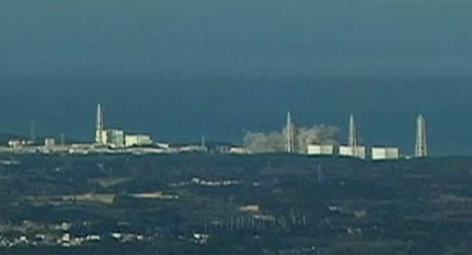 Explosion im AKW Fukushima am Sonntag (Screenshot BBC)