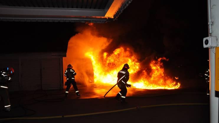 Die Feuerwehr hatte das Feuer rasch im Griff.