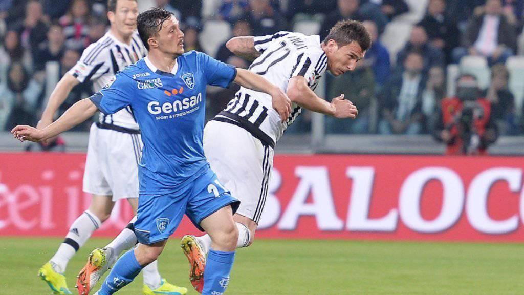 Das Kopftor von Juventus-Stürmer Mario Mandzukic zum 1:0 gegen Empoli