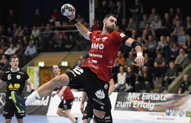 Nach zuletzt drei Siegen in Serie, verliert der HSC in der laufenden Finalrunde zum ersten Mal – das kann auch Kreisläufer Martin Slaninka nicht verhindern.