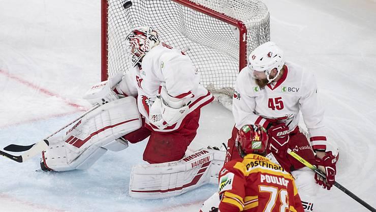 Niederlage trotz starker Leistung von Goalie Tobias Stephan für Lausanne in Tschechien. (Archivbild)