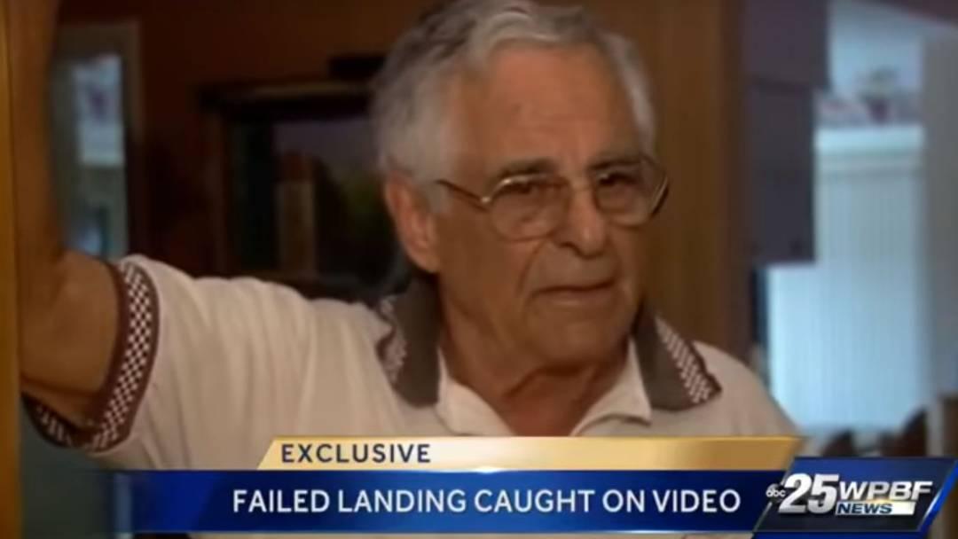 Der 85-jährige Pilot hat das Fahrwerk absichtlich eingefahren – weil er zu schnell war.