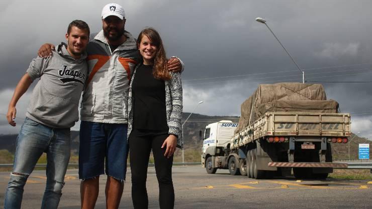 Mit Lastwagenfahrer Dauthon legen wir rund 700 Kilometer zurück.