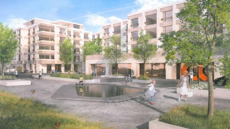 Der Waldeggplatz bildet des Eingangstor zum neuen Quartier. (Archiv)