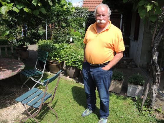 Der Garten zu Hause in Gipf-Oberfrick gibt Stefan Landolt auch als Rentner viel zu tun.