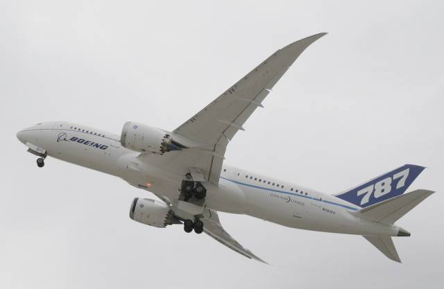 Im Rampenlicht B787 «Dreamliner», ein zweistrahliges Grossraumflugzeug mit einer Kapazität von 200 bis 300 Passagieren. Das als Ersatz für die ältere B767 konzipierte Flugzeug weist einen Rumpf aus Kohlenstofffasern auf. Damit wird das Flugzeug leichter und verbraucht weniger Treibstoff. Die 787 hatte drei Jahre Verzögerungen aufgrund von Problemen mit Lieferanten, dem Kohlenfaserrumpf und zuletzt ein Grounding der Flotte nach Batteriebränden. Der Dreamliner konkurrierte die Airbus-Modelle A330 und A340 sowie den neuen A350. In Paris kamen 50 Bestellungen und 55 Optionen herein. Der Renner Die B737-Familie. Bisher sind 11 000 Maschinen bestellt. Alle fünf Sekunden startet oder landet weltweit eine B737. Ständig sind 1500 Maschinen in der Luft. Die Kurz- und Mittelstreckenmaschinen transportieren zwischen 130 und 200 Passagiere. Das Design ist über 50 Jahre alt. Deshalb muss Boeing wesentlich mehr für die Weiterentwicklung verändern, weil die ganz neuen Triebwerke zu gross für die tief gelegten Tragflächen sind. Das Nachfolgemodell B737Max tritt gegen den A320Neo an. In Paris kauften Ryanair und Tui die B737. Boeing meldet 364 Bestellungen und Optionen. Der Flop Die B747-8. Auch wenn Boeing von den «Jumbo Jet»-B747-Baureihen 100, 200, 300 und 400 insgesamt über 1500 Stück absetzte: Von der jüngsten Weiterentwicklung B747-8 verkaufte Boeing erst 45 Passagier- und 65 Frachtflugzeuge. Lufthansa betreibt die grösste B747-8-Flotte weltweit. Das Flugzeug tritt gegen den A380 von Airbus an. In Paris orderte Korean Air 5 Optionen für die B787-8. Für VIPs Die «Air Force One» des US-Präsidenten basiert auf der B747. Einige weitere Regierungen nutzen dieses Muster ebenfalls als Präsidentenmaschinen. Andere mieten jeweils einen Jumbo Jet ihrer nationalen Fluggesellschaften, wenn der Staatschef auf Reisen geht. Die B737 ist auch ein beliebtes VIP-Flugzeug, bei dem sich Magnaten aus Russland oder dem Nahen Osten mit exklusivem Interieur übertrumpfen. Der Hersteller Boeing ist der 