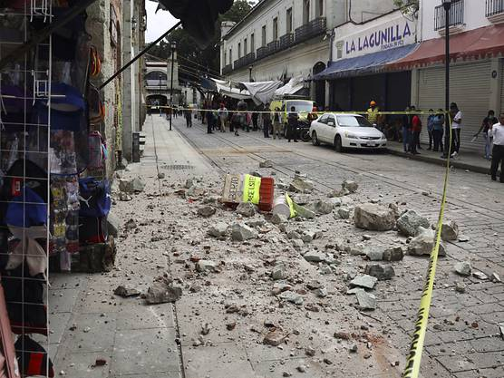 In Mexiko hat ein Erdbeben vielerorts Schäden an Gebäuden angerichtet und einige Todesopfer gefordert.