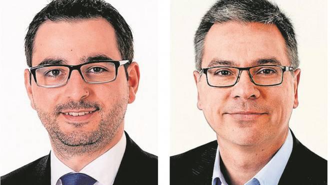 Der Mann der Jugend: Urgese und der Mann der Pharma: Mummenthaler (links).