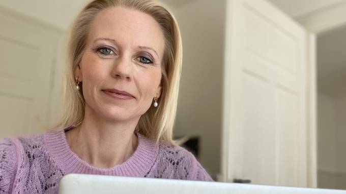 EVP-Politikerin Lilian Studer im Homeoffice.