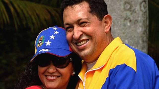 Chavez mit seiner Tochter Rosa Virginia