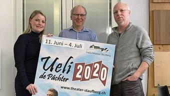 Für Bettina Leutwiler, Markus Moser und Peter Locher (v.l.) hat die Arbeit schon lange begonnen.