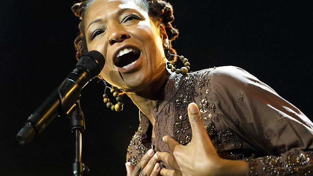 Lisa Simone letzte Woche am Montreux Jazz Festival, 40 Jahre, nachdem ihre Mutter Nina Simone einen Auftritt am selben Festival hatte. (Archivbild)