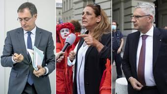 Ausfällig geworden: Roland Büchel (SVP/SG),  Jacqueline Badran (SP/ZH) und Andreas Glarner (SVP/AG).