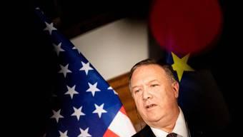 US-Aussenminister Pompeo hält sich anlässlich des 30. Jahrestags des Mauerfalls zu einem Besuch in Deutschland auf.