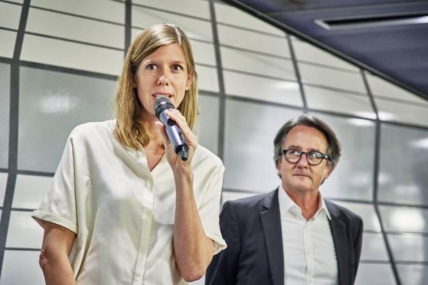 Veronika Spierenburg mit Stadtrat Erich Obrist.