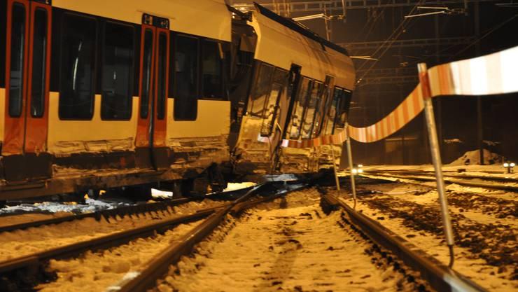Der entgleiste Zug