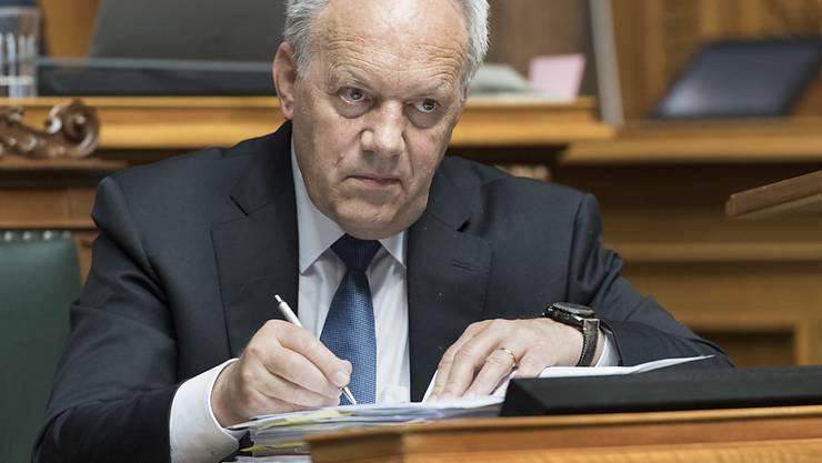 Bildungsminister Johann Schneider-Ammann hat sich bei den Beratungen zu den Bildungsausgaben durchsetzen können: Der Nationalrat ist ihm in allen Punkten gefolgt.