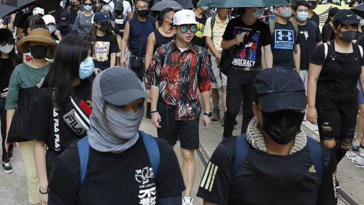 Demonstranten aus Hongkong.