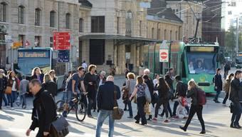 Den Centralbahnplatz nehmen viele Fussgänger als sehr gefährlich wahr.