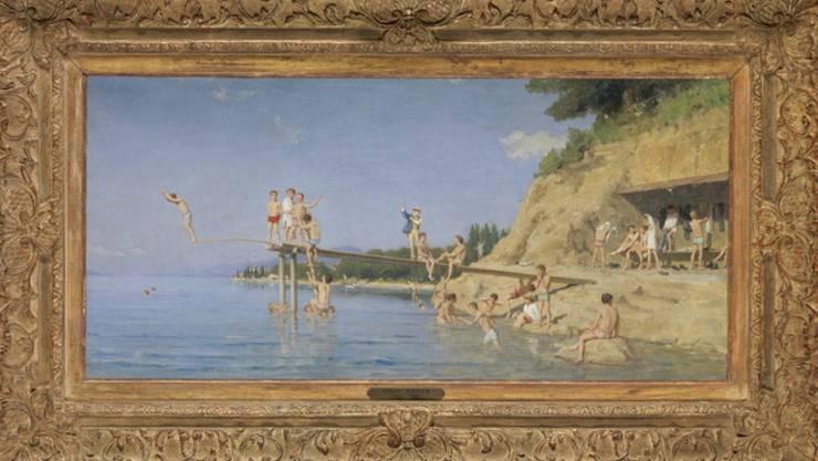 """Albert Ankers """"Das Bad in Crêt"""" von 1888 hat an einer Auktion in Luzern einen Preis von über 2 Millionen Franken erzielt"""