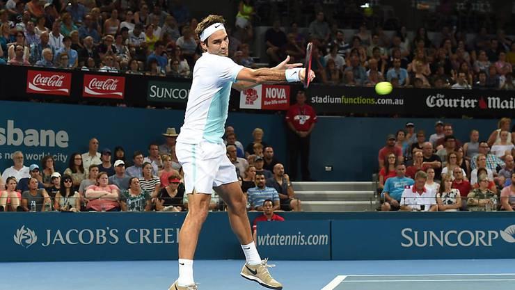Titelverteidiger Roger Federer steht zum dritten Mal in Folge in Brisbane in den Halbfinals