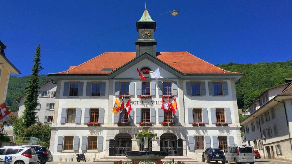 Das Rathaus in Moutier.