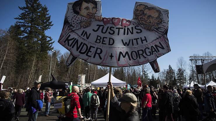 Kanadas Regierung macht beim Ausbau einer Erdölpipeline vorwärts - doch in den betroffenen Regionen regt sich Widerstand gegen die Erweiterungspläne. (Archivbild)