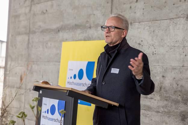 «Mittlerweile wissen wir auch bezüglich der Emme, dass das Prinzip ‹Hoffnung› keinen genügenden Schutz bietet», so Biberists Gemeindepräsident Martin Blaser.