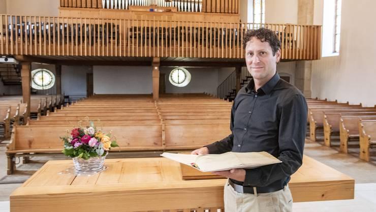 Selbst Kirchen sind vor der Corona-Krise nicht gefeit: Andreas Stooss in Liestal.