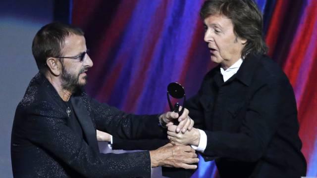 Paul McCartney hielt die Laudatio für Ex-Bandkollege Ringo Starr