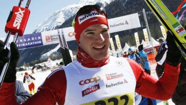 Dario Cologna gewinnt den Engadiner 2010