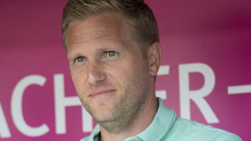 Thuns Trainer Marc Schneider tritt mit seinem Team als Tabellenletzter bei Leader YB an