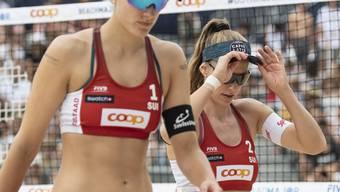 Überraschendes Out im Sechzehntelfinal: Nina Betschart (rechts) und Tanja Hüberli müssen an der EM in Moskau früher als erwartet die Segel streichen