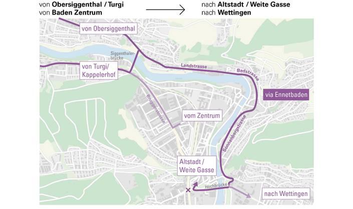 Von Obersiggenthal und Turgi in die Altstadt.