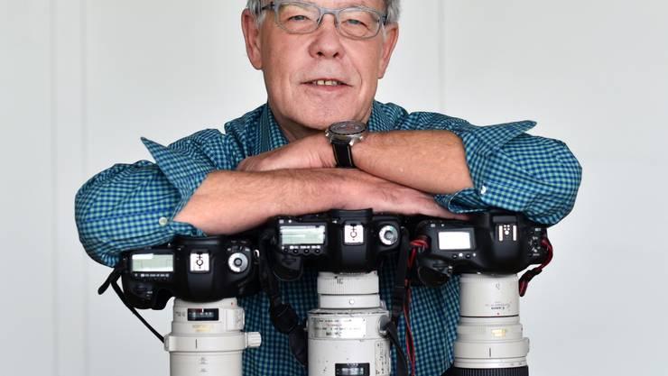 OT-Fotograf Hansruedi Aeschbacher will sich nicht auf seinen Kameras ausruhen.