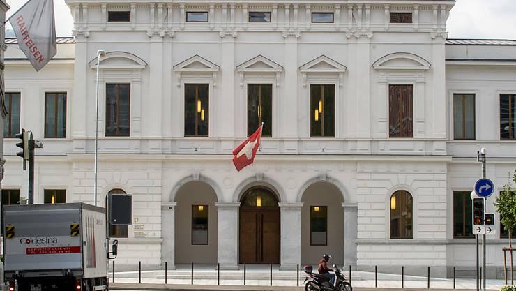 Hier müssen sich die vier Terrorverdächtigen Ende Februar verantworten: Bundesstrafgericht in Bellinzona. (Archiv)